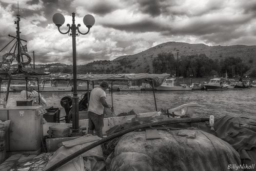 Fisherman collection of nets HDR by BillyNikoll