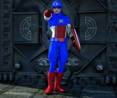 Cap America 2015 2nd skin textures for M4 by hiram67