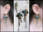 Earrings and small ear cuff by JSjewelry