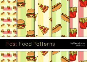 Fast Food Patterns by MysticEmma
