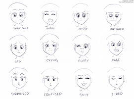 Anime expressions- practice by izka197