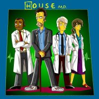 House M.D. Simpsons Style by Chimpanboy