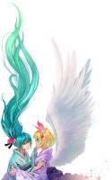 miku and rin_not finished by junefeier