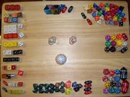 My Incomplete Dice Collection by CasanovaUnlimited