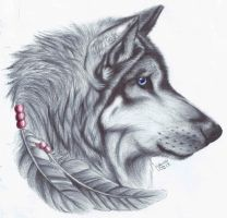 Wolf Tattoo Design by icepaw99