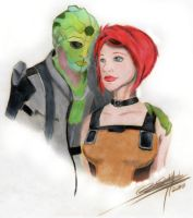 Thane and his Siha -colored- by Dakkita