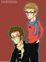 Hipster Jack and Toby by ikriam
