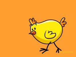 yellow chick by hanno
