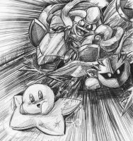 kirby's air ride pencil by Evanatt