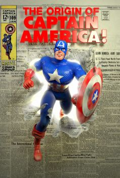 Captain America Jack Kirby style in 3D by MAWikdahl