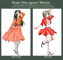 Meme  Before And After ver. Idania by TheGrayWitch