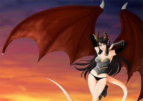 Succubus -Commission 25- by Apple-Cake