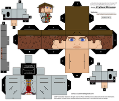 Cubee - The 4th Doctor '1of2' by CyberDrone