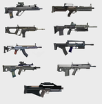 Assault Rifle Concepts by GoGlhEaD