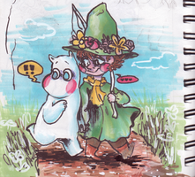 [moomins] walk in the woods by akasunanosasoriXD