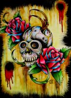 Skull n' Roses by EatMyMeat
