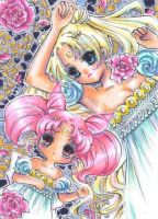 Serenity and Chibiusa by OoOoPitchBlackOoOo