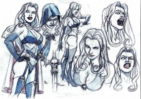 Lady Death rough studies by bordon