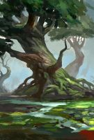 tree  speedpainting2~! by zukang