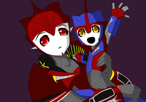 TFP-KO with his little Moonwarp by TFAfangirl14
