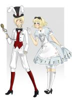 Alice and Rabbit original outfits by FoxKey