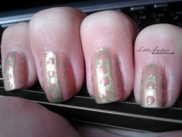 31 Week Nail art challenge: Week 4 Green Nails by LittleAndzia