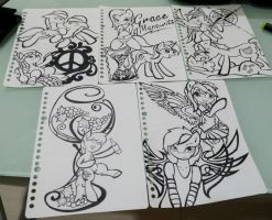 meetup doodles (lined)  by Kaboderp-sketchy