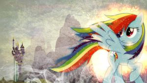 Rainbow Dash's Guilt ~ Wallpaper by Karl97