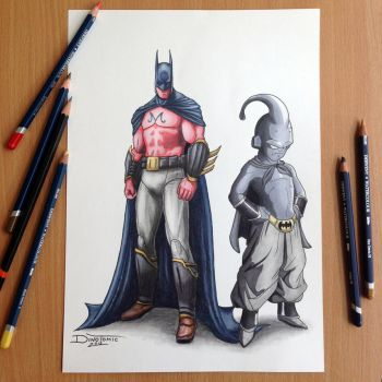 Majinn Bat / BatBuu Pencil Drawing by AtomiccircuS