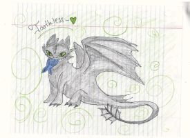 Toothless II by strangmusicobsession