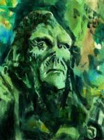 Swamp-Thing-Mini-Painting by DayDreamOrNightmare