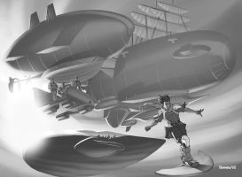 Exalted 2nd Ed - Airships by ChristopherStevens