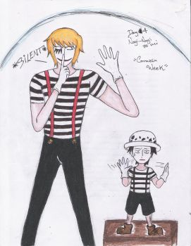 Corazon and Law being mimes by VeliaRickman