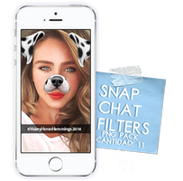 Snapchat Filters Png Pack (Part 2) by valeryscolors