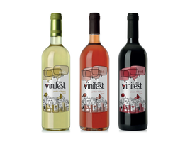 vinifest logo and labels by hindh