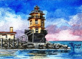 Harbor of Refuge Light by frizz-art