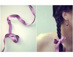 Purple ribbon by katsiii