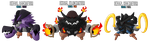 Fakemon: EX024 - EX026 Legendary Pirates by MTC-Studios
