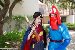 Lady Eboshi and Ashitaka by thatbloodypirate