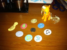 MLP Cutie Mark Pins Set 2 by frostdemn