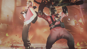 Team Fortress 2 (TF2) - Scout and pyro by ViewSEPS