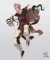 Green Mage Full Body Concept by Luigigurl
