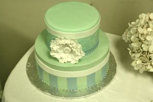 damask baby shower cake by see-through-silence