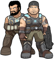 GOW3 Marcus and Dom by SandikaRakhim
