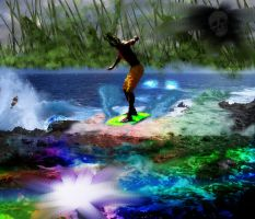 Psychedelic Surfer by JugglinPhil