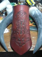 Hand made and tooled bracer by HaagensonsHearth