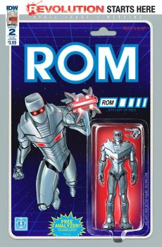ROM #2 Action Figure Variant toy cover IDW by AdamRiches