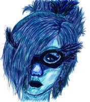 Blue Woman by rachiesroom