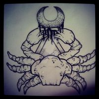 cool crabby design by ShellyZTrueheartInk