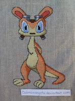 Daxter - cross stitch by bulmaxvegeta
